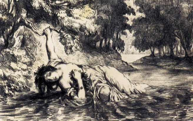 The Death of Ophelia - Eugene Delacroix, 1843