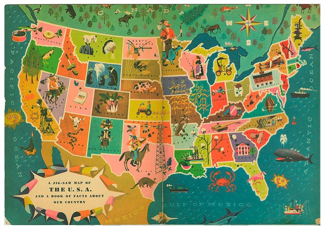 Language is awesome regional slang from around america katy illustrated map of the usa sciox Gallery